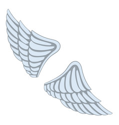 Wings icon cartoon style vector