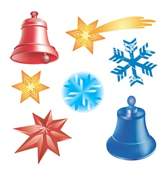 Winter christmas elements vector image