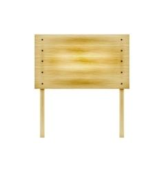 wooden billboard vector image