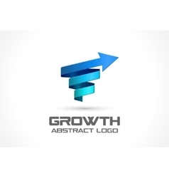 Abstract logo for business company growth vector image