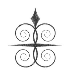 Drawing swirl decorate ornate style vector