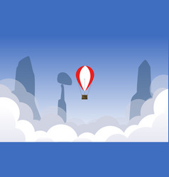 air ballon flying over the sky vector image