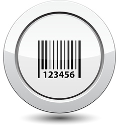 Button with barcode icon vector