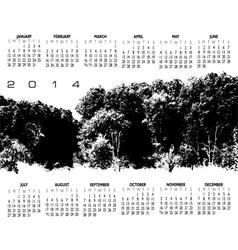 2014 Woods Calendar vector image