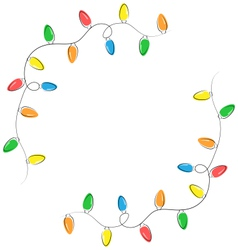 Multicolored flat led christmas lights garland vector