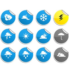 Weather stickers vector