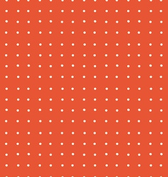 Abstract Red Dotted Retro Seamless Background vector image