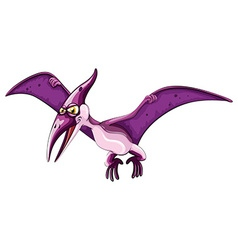 Purple dinosaur with wings vector