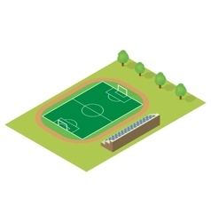 Isometric football field vector