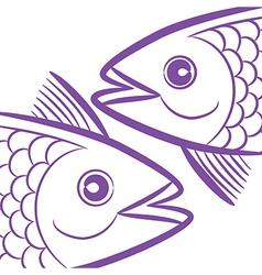 pisces fish head vector image