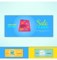 Shopping sale ad flyer with in modern flat vector