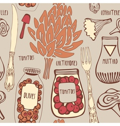 Vintage Gourmet Cooking Pattern vector image