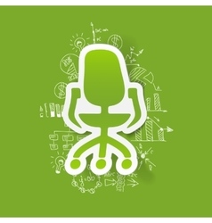 Drawing business formulas office chair vector