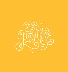 With hand-lettering phrase vector