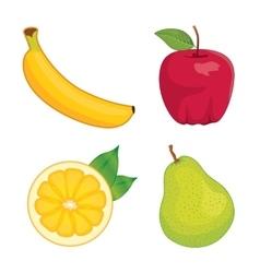 Glossy fruit set vector