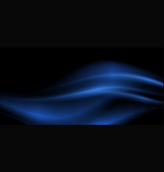 Background design with blue waves on black vector