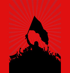 background with silhouette of protesters vector image