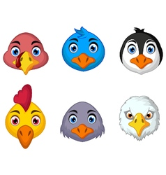 bird head cartoon vector image