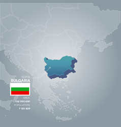 Bulgaria information map vector