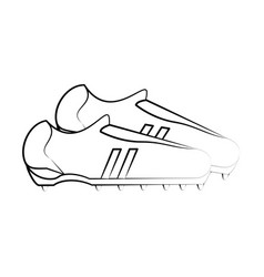 Cleats shoes football soccer icon image vector