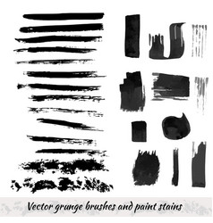 Collection with grunge brush strokes and paint vector