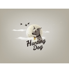 Color of a hunting dog vector image