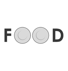 Couple of plate icon Food design graphic vector image