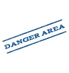 Danger area watermark stamp vector