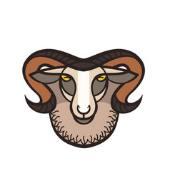 Drawing head of ram vector