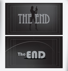 end vector image vector image