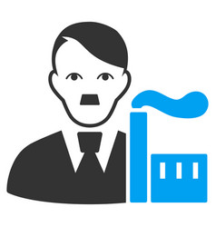 Factory capitalist flat icon vector