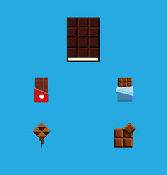 Flat icon bitter set of delicious chocolate vector