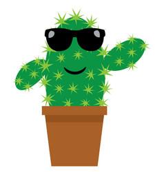 funny cactus vector image vector image