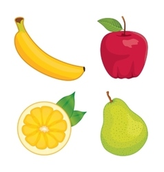 Glossy fruit set vector image vector image