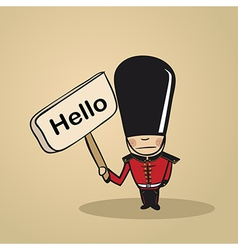 Hello from UK people vector image vector image