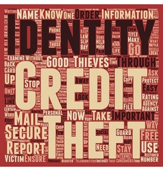 Identity theft stop it now text background vector