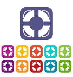 Lifeline icons set vector