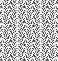 Monochrome pattern with black dot clusters on vector