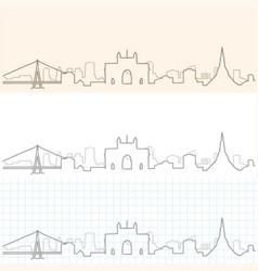 Mumbai hand drawn skyline vector