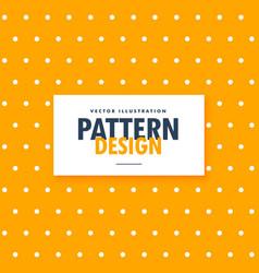Polka dots on bright orange background vector