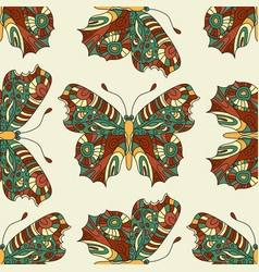 seamless hand drawn pattern with fantasy vector image vector image