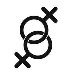 Sign of two women icon vector