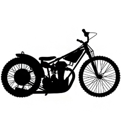 speedway motorbike silhouette vector image