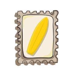 surf board postal seal vector image