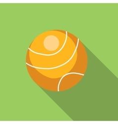 Tennis ball flat icon vector