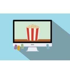 watching online movie vector image vector image