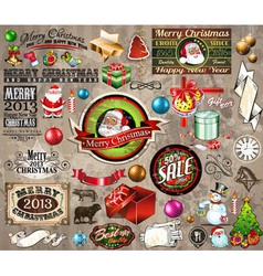 2013 christmas vintage typography vector