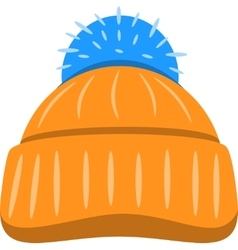 Winter Seasonal Hat Isolated vector image