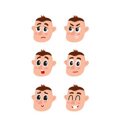 Face expressions set - upset angry surprised vector