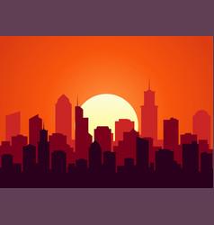Sunset landscape vector